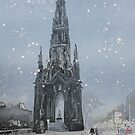 Snowy Scott Monument by Ross Macintyre
