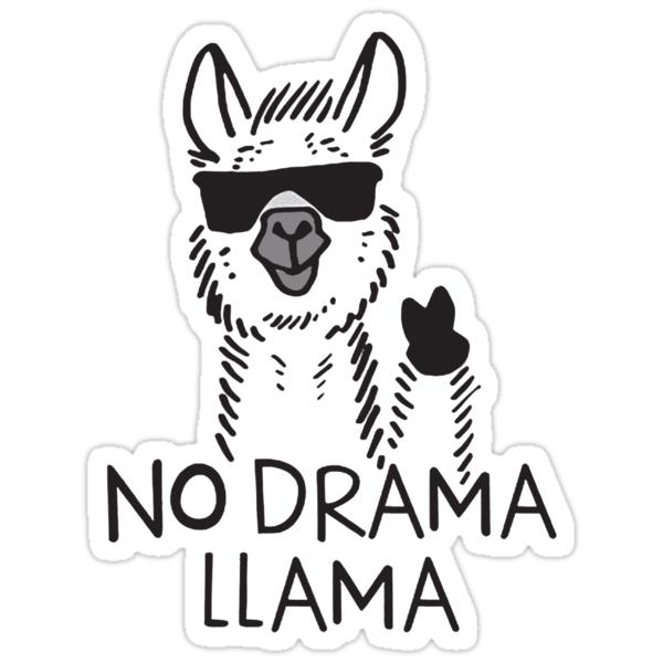 no drama llama stickers by almafa123 redbubble
