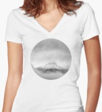 Peak in the clouds Women's Fitted V-Neck T-Shirt