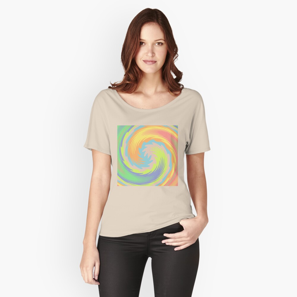 Abstract Twirl Wave Relaxed Fit T-Shirt