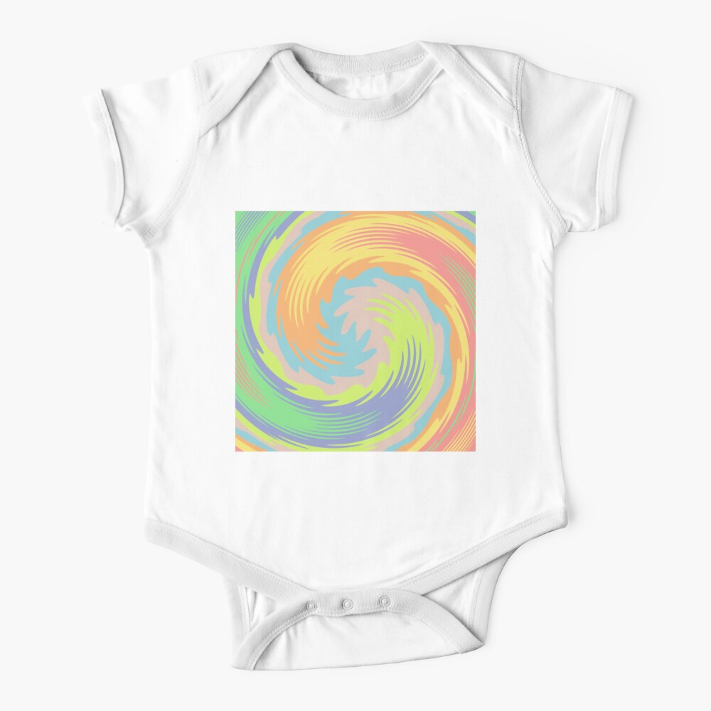 Abstract Twirl Wave Baby One-Piece