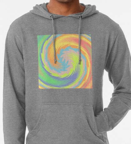 Abstract Twirl Wave Lightweight Hoodie