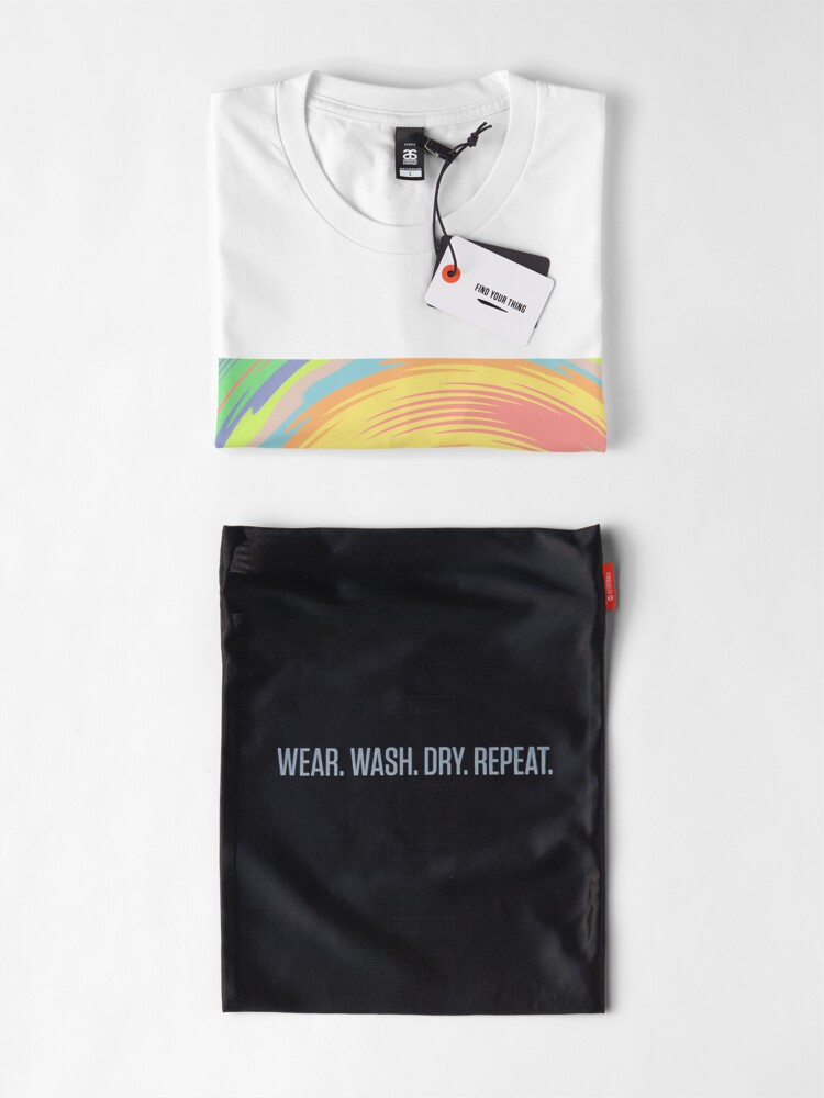 Alternate view of Abstract Twirl Wave Premium T-Shirt