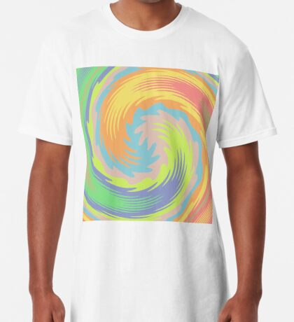 Abstract Twirl Wave Long T-Shirt