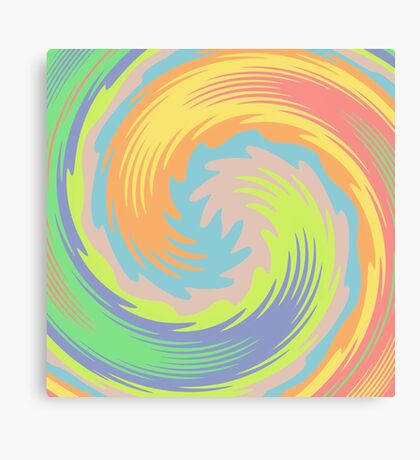Abstract Twirl Wave Canvas Print