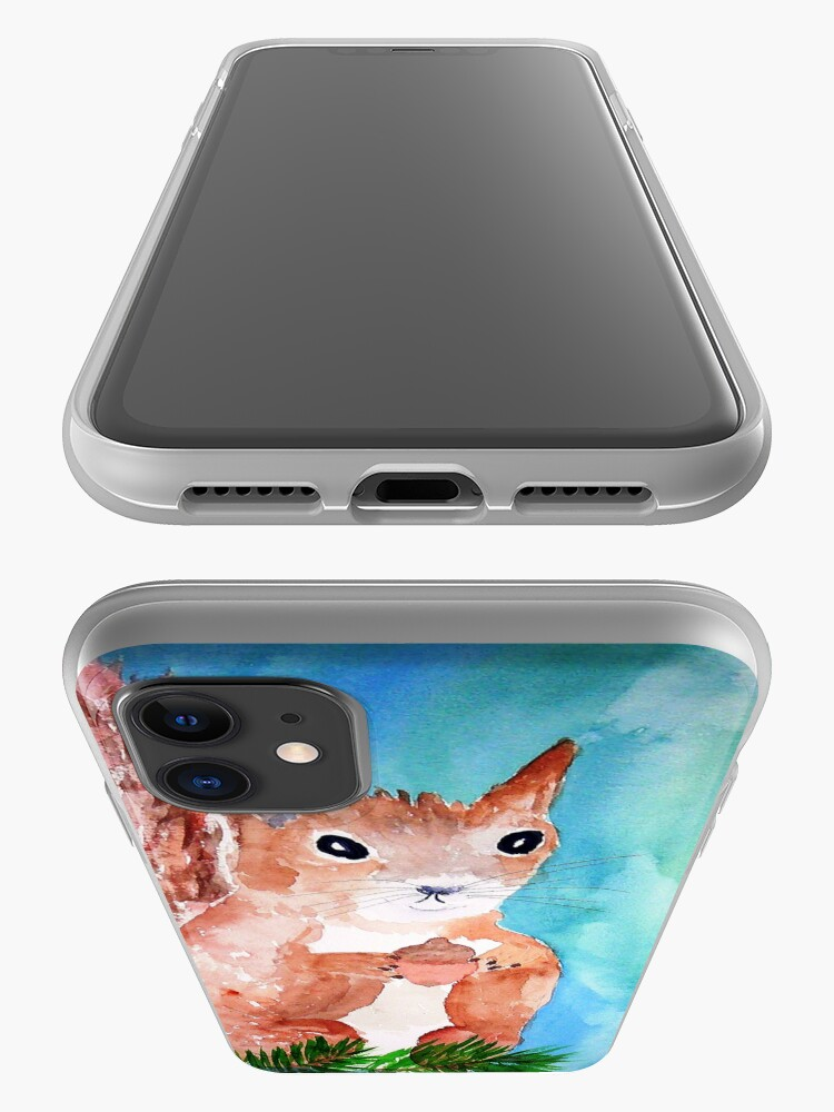 Alternate view of Red Squirrel iPhone Case & Cover