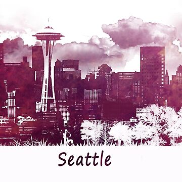 Seattle Washington skyline by JBJart