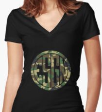 ESGNnewcamouflage Women's Fitted V-Neck T-Shirt