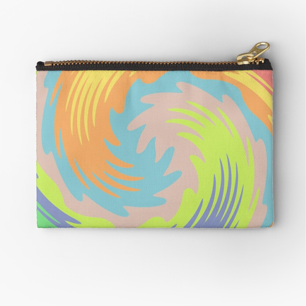 Abstract Twirl Wave Zipper Pouch
