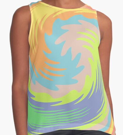 Abstract Twirl Wave Sleeveless Top