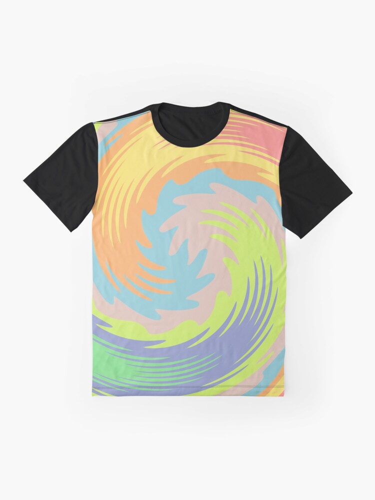 Alternate view of Abstract Twirl Wave Graphic T-Shirt