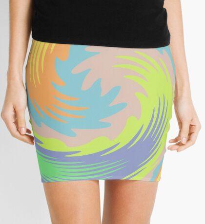 Abstract Twirl Wave Mini Skirt