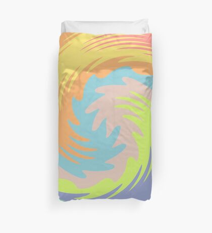 Abstract Twirl Wave Duvet Cover