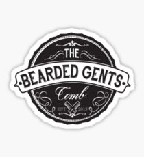The Bearded Gents Comb Sticker