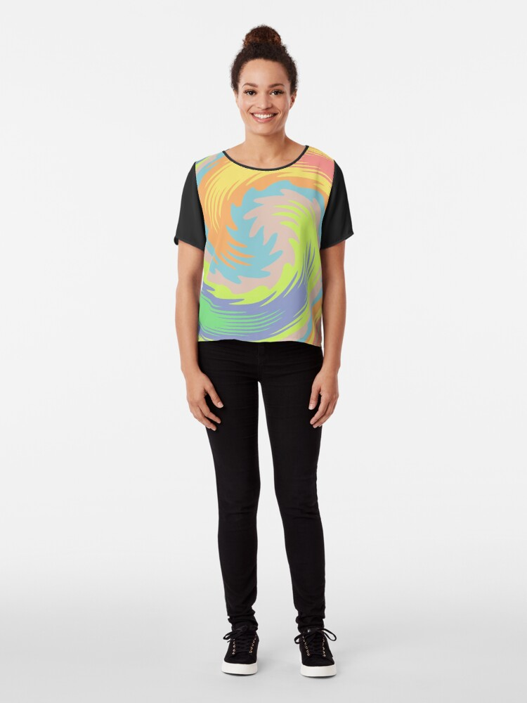 Alternate view of Abstract Twirl Wave Chiffon Top