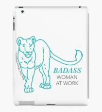Badass Woman at Work iPad Case/Skin