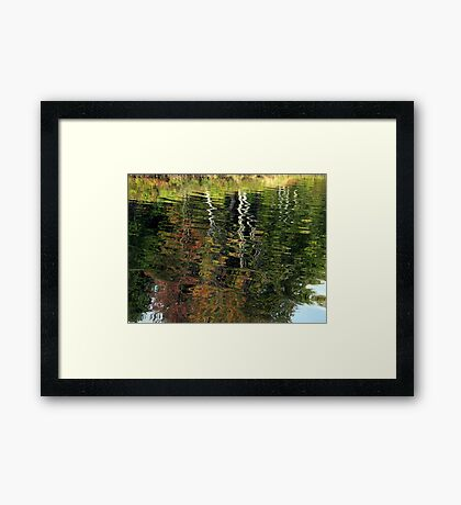 Fall Watercolor Framed Print