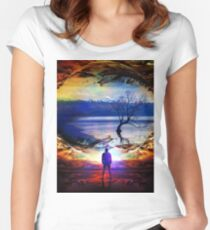 Edge Of Time Women's Fitted Scoop T-Shirt