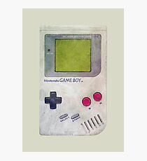 Vintage GameBoy Painting V01 Photographic Print