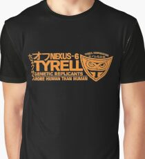 Tyrell - Nexus 6 Orange Graphic T-Shirt