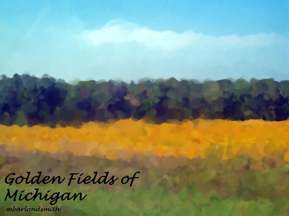 Golden Fields of MIchigan Impression by Michelle BarlondSmith