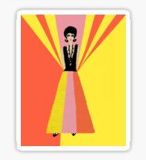 Feathered Free-spirited Fashionista Sticker