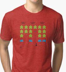 Meeple Invaders Tri-blend T-Shirt