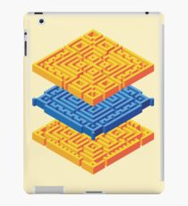 Isometric Stack in Orange and Blue iPad Case/Skin