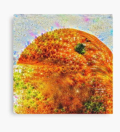 #DeepDreamed Frozen Orange Canvas Print