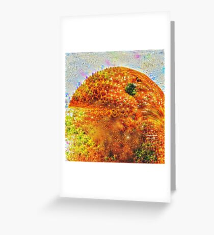 #DeepDreamed Frozen Orange Greeting Card