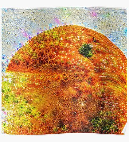#DeepDreamed Frozen Orange Poster