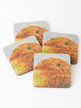 #DeepDreamed Frozen Orange Coasters