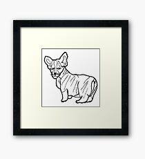 hand drawn sketch style dog.Vector illustration isolated on white background Framed Print