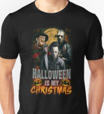 Halloween Is My Christmas: Horror Icons T-Shirt