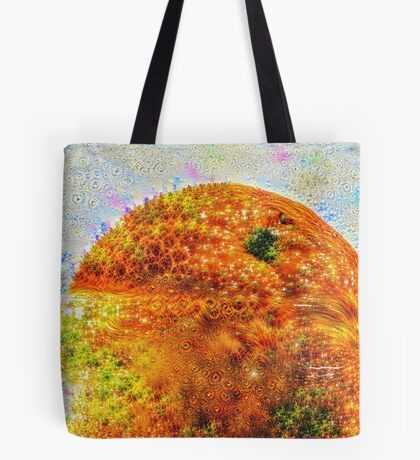 #DeepDreamed Frozen Orange Tote Bag