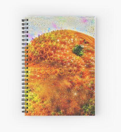 #DeepDreamed Frozen Orange Spiral Notebook