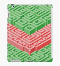 Isometric Stack in Red and Green iPad Case/Skin