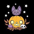 Pumpkin Cats Son // Black by nikury
