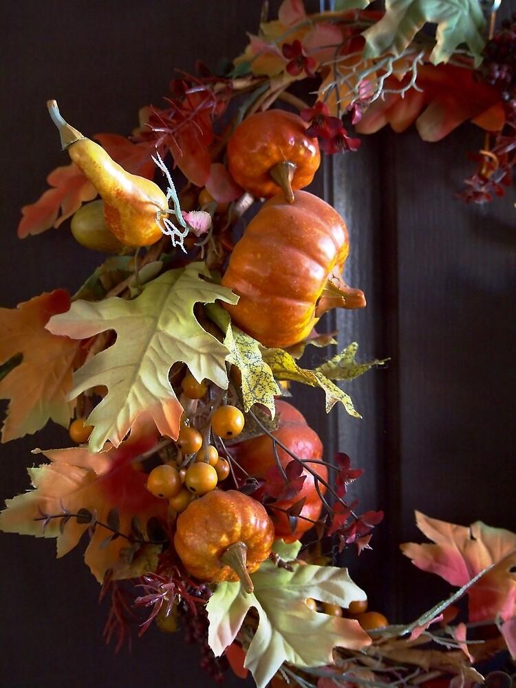Autumn Wreath by Douglas E.  Welch