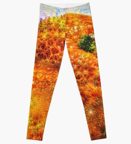 #DeepDreamed Frozen Orange Leggings