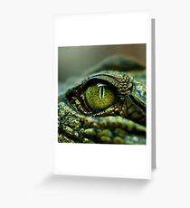 Eye of the Crocodile [iPad / Phone cases / Prints / Decor] Greeting Card
