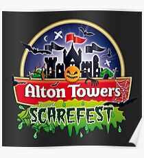 Alton Towers Scarefest Poster