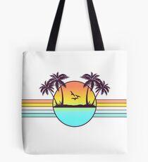 80er Jahre Sonnenuntergang Tote Bag