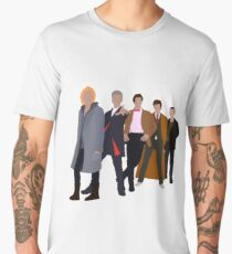 All 5 Modern Doctors (Including 13th Doctor) - Doctor Who Inspired Men's Premium T-Shirt