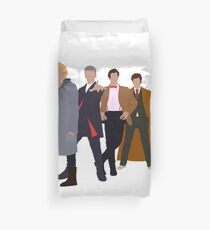 All 5 Modern Doctors (Including 13th Doctor) - Doctor Who Inspired Duvet Cover