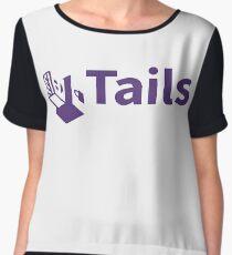 tails linux distribution Women's Chiffon Top