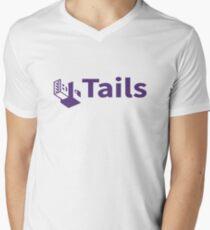 tails linux distribution Men's V-Neck T-Shirt