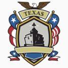 Texas Battleship Emblem Retro by patrimonio