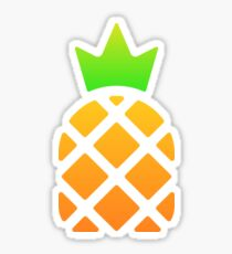 Pineapple with crown illustration Sticker