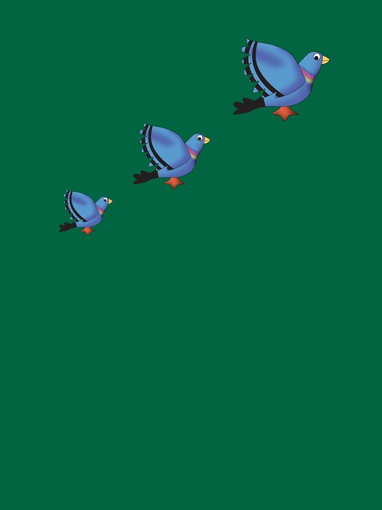 Flying Pigeons by stuartm65
